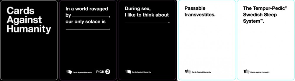 Custom Playing Cards For Cards Against Humanity
