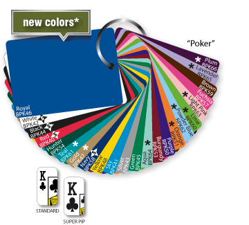 Foll stamp stock playing card colors in poker