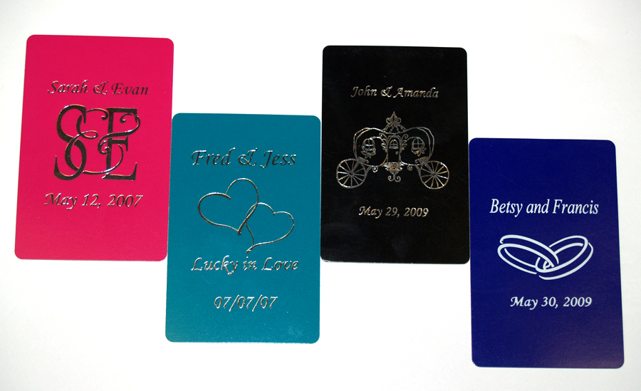Custom Foil Stamped Playing Card Samples