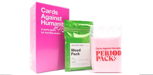 cards against humanity for her weed pack