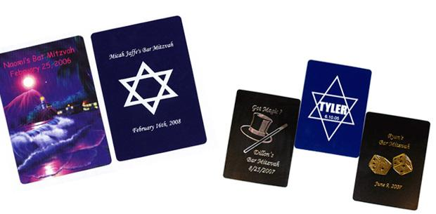 custom playing cards bar mitzvah