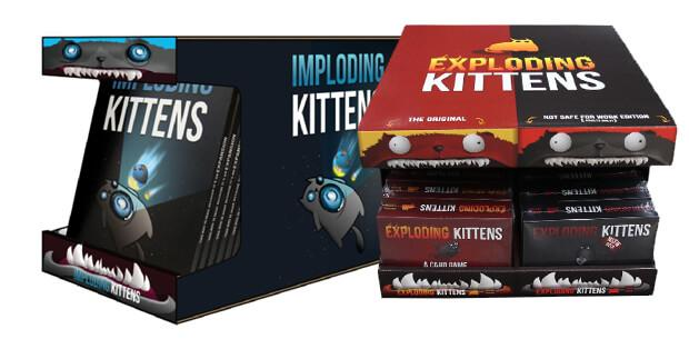 hero retail display exploding kittens imploding kittens