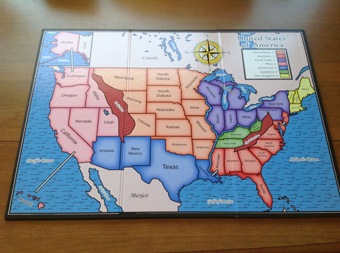 Custom Board Game Us Map