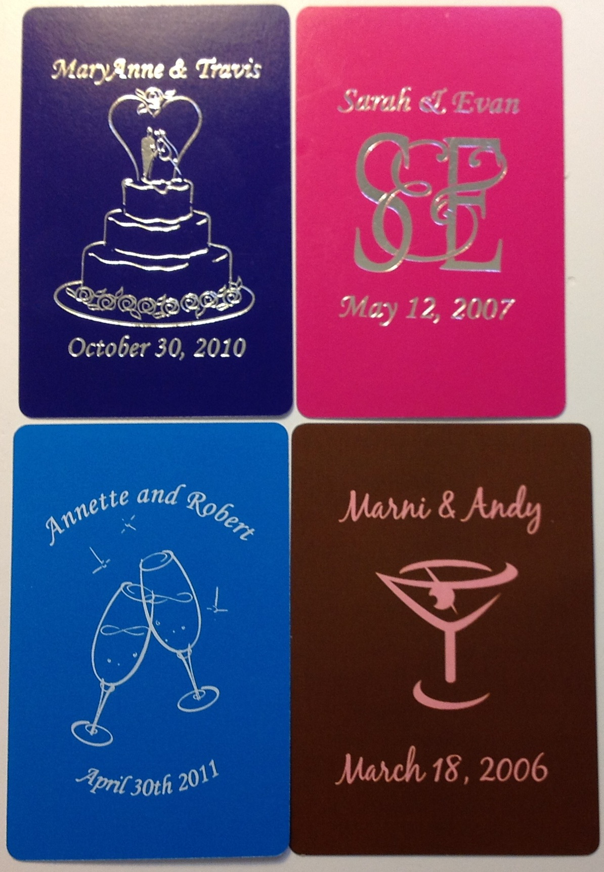 Custom Wedding Playing Cards AdMagic