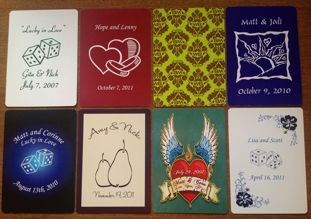 Wedding Custom Playing Cards