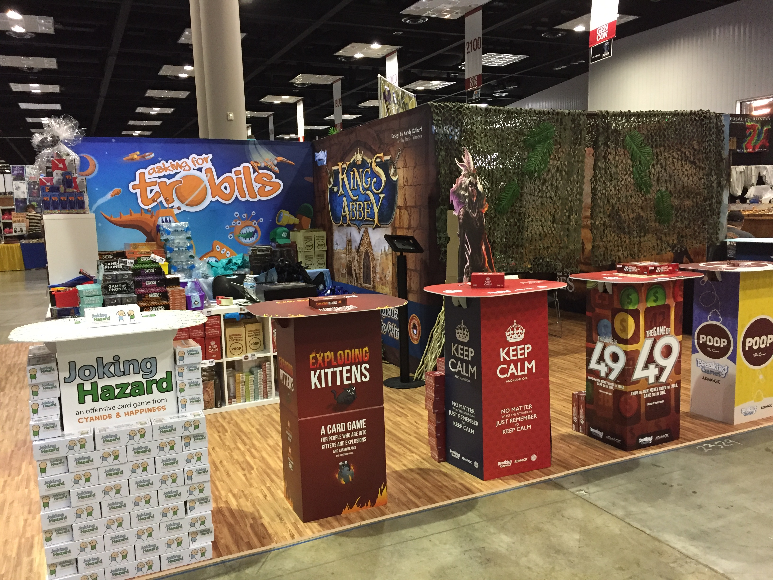 Breaking Games Tabletop Game Manufacturing Gen Con Booth